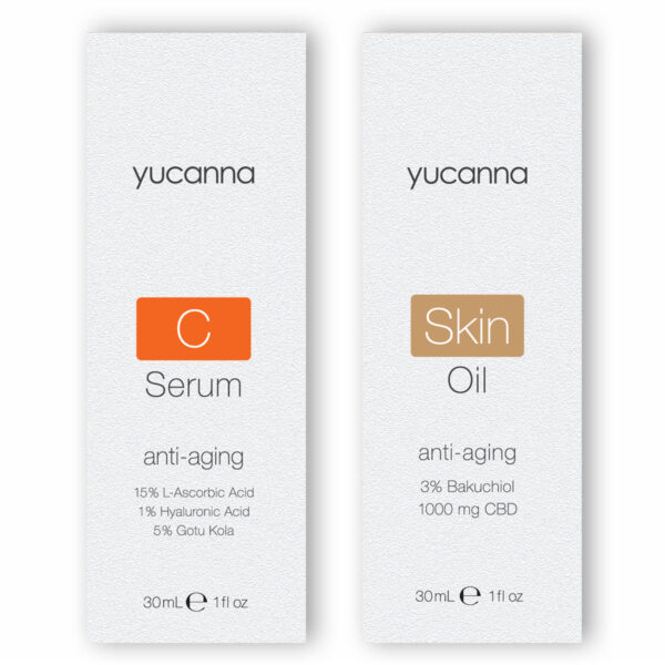 Yucanna C Serum and Skin Oil Bundle Packaging