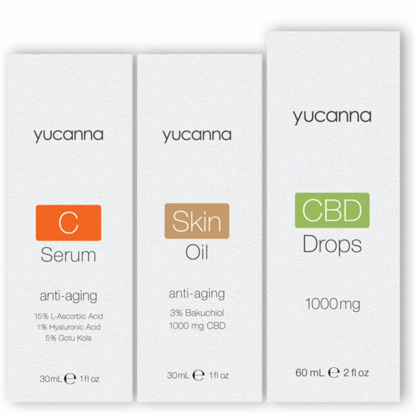Yucanna C Serum and Skin Oil CBD Drops Bundle Packaging